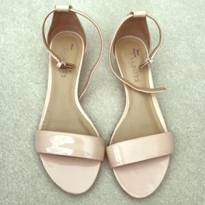 Talbot's blush patent leather sandals